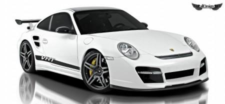 Porsche 911 Turbo 997 V-RT Vorsteiner Defensa Delantera en Fibra de Carbono
