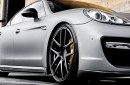Porsche Panamera Turbo Vorsteiner V-PT Body Kit Carroceria Accesorios Piezas Partes Fibra Carbono Gris