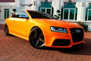 Audi RS5 Llantas ADV1 ADV5.1 Monoblock Negro Mate