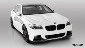 Spoiler Delantero V-MS Vorsteiner en Fibra de Carbono para BMW Serie 5 (F10) con Pack M