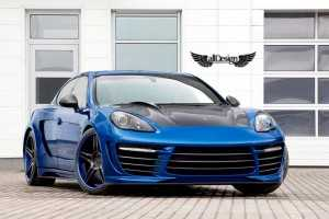 Porsche Panamera con Kit de Carroceria en Fibra de Carbono TOPCAR Stingray GTR & Llantas ADV.1 ADV05 Deep Concave