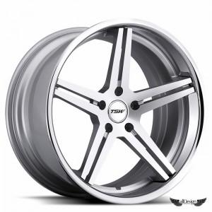 Llantas TSW Mirabeau Aluminio Mecanizado Plata Aro Pulido