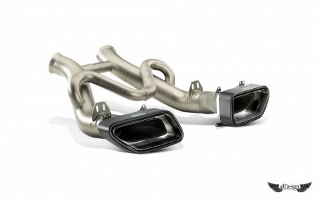 Sistema de Escape Akrapovic Slip-On en Titanio para McLaren MP4-12C