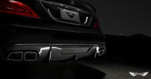 Difusor Trasero Vorsteiner en Fibra de Carbono para Mercedes CLS 63 AMG