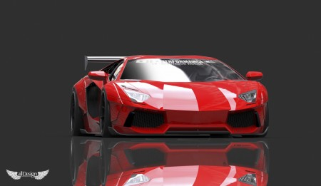 Liberty Walk Lamborghini Aventador LB Performance Wide Body Kit LB Works