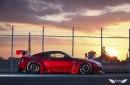 Liberty Walk Nissan GTR R35 GT-R LB Performance Wide Body Kit Carroceria LB Works 04