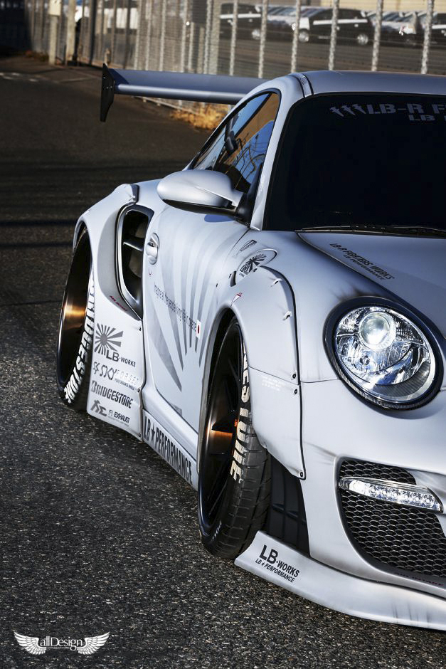 Wide Body Kit Liberty Walk Porsche 911 997 Lb Works