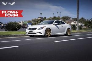 Infiniti G37 Coupe S + Llantas HRE FF01 Gold Rush