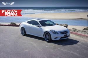 Infiniti G37 Coupe S + Llantas HRE FF15 Liquid Silver