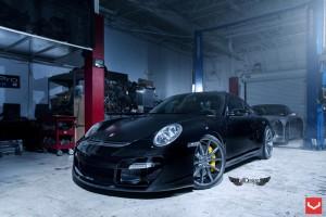 Llantas Vossen VFS1 Porsche 911 997 GT2 20x8.5 20x11 Vorsteiner Defensa Carbono 01