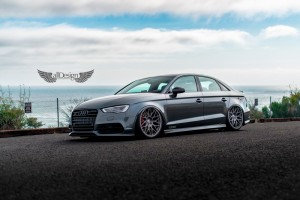 Audi S3 Sedan (8V) + AccuAir e-Level + Llantas HRE 300M Classic Series