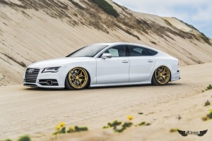 Audi S7 (C7) + AccuAir e-Level + Llantas Rotiform HUR