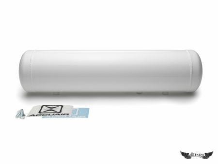 AccuAir Tanque Aire Aluminio 5 Galones Blanco Suspensión Neumática