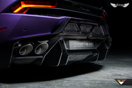 Difusor Trasero Novara Vorsteiner en Fibra de Carbono para Lamborghini Huracan