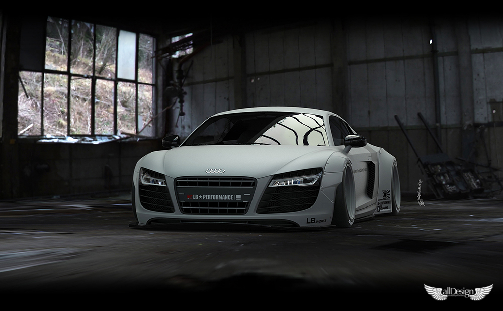 Wide Body Kit Liberty Walk Audi R8 Lb Works Alldesign