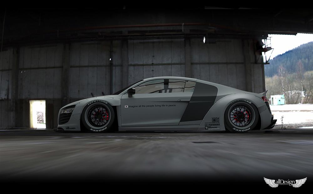 Wide Body Kit Liberty Walk Audi R8 Lb Works Alldesign