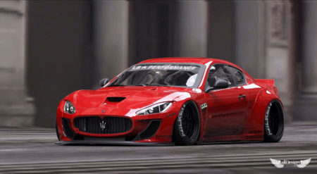 Liberty Walk Maserati GranTurismo LB Performance Wide Body Kit LB Works