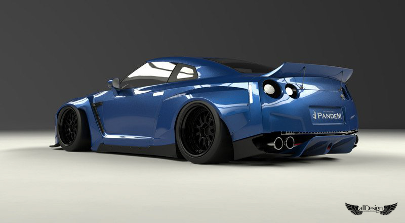 Wide Body Kit Pandem Rocket Bunny Nissan Gt R R35 Ver 1