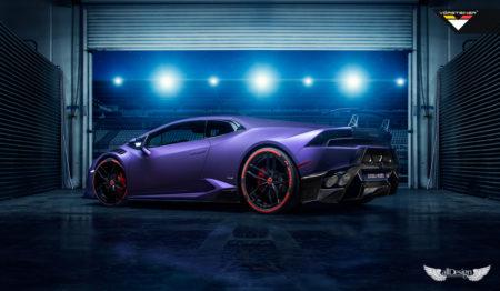 Taloneras Laterales Novara Vorsteiner en Fibra de Carbono para Lamborghini Huracan
